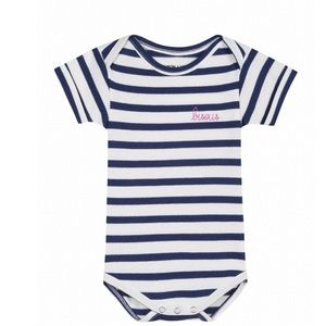 Other - Bisous Onesie Navy/White Stripes Multiple Sizes
